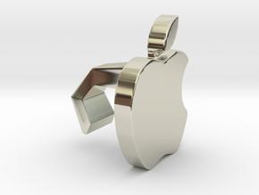 iMac Camera Cover - Apple in 14k White Gold