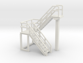 1:50 Staircase 76mm in White Natural Versatile Plastic