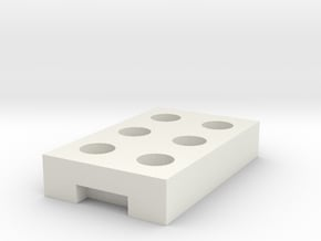 1:50 Fence support in White Natural Versatile Plastic