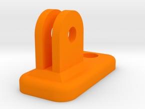 Cree light - Gopro mount adapter in Orange Processed Versatile Plastic
