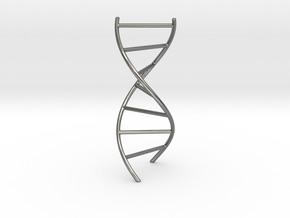 DNA Pendant in Polished Silver