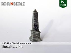 Obelisk monument (N 1:160) in Smooth Fine Detail Plastic