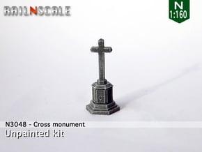 Cross memorial (N 1:160) in Smooth Fine Detail Plastic