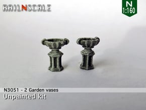 Garden vase (2x) (N 1:160) in Smooth Fine Detail Plastic