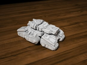 Siege Tank 40mm Length in Smooth Fine Detail Plastic