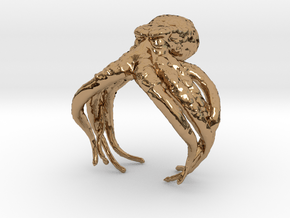 Cthulhu Ring in Polished Brass