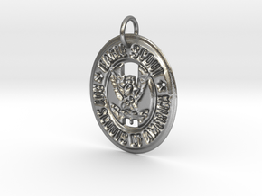 Eagle Scout Pendant in Natural Silver