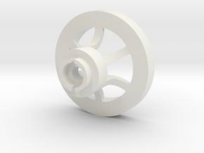 1/16 Idler wheel  E-100 part 1 in White Natural Versatile Plastic