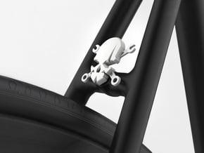 NEW! Skull & Wrench NUT, for M6 x1 Screw in White Natural Versatile Plastic