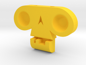 Skull by  it's a CYN! in Yellow Processed Versatile Plastic