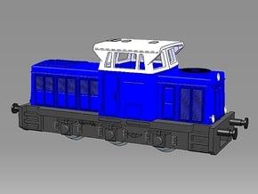 1:220 - T334 Werkslok in DDR-Betrieben für Spur Z in Smooth Fine Detail Plastic