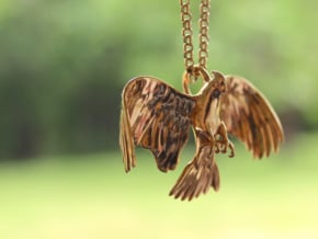 Corella Cockatoo Pendant in 18k Gold Plated Brass