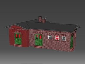 1:220 Nebengebäude / kleines Bahnhofsgebäude für Z in Smooth Fine Detail Plastic
