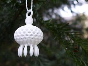 Anthocyrtium Ornament - Science Gift in White Processed Versatile Plastic