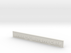 """1:24 Cafe Sign 5.5"""" in White Natural Versatile Plastic"""