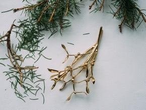 """Mistletoe- 4"""" in Polished Brass"""