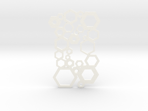 Hexagonal Decorative Switch Plate in White Processed Versatile Plastic