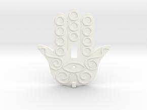 Hamsa Switch Plate with Key Hanger  - Xansibar Des in White Processed Versatile Plastic