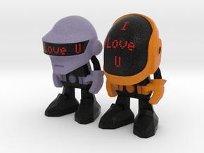 "Daft Punk ""I Love U"" - 50mm in Full Color Sandstone"