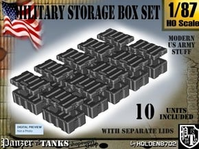 1-87 Military Storage Box Set in Smooth Fine Detail Plastic
