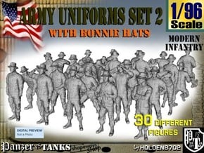 1-96 Army Modern Uniforms Set2 in Smooth Fine Detail Plastic