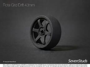 Drifting Wheel 43mm in Black Natural Versatile Plastic