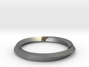 Mobius Wedding Ring-size10 in Fine Detail Polished Silver