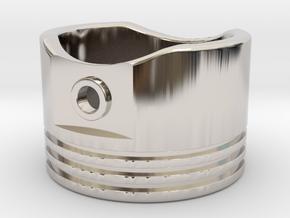 Piston - US Size 8.5 in Rhodium Plated Brass