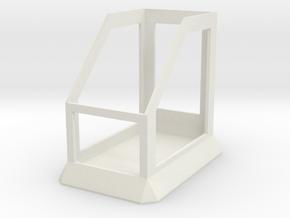 Mod Stand 1 in White Natural Versatile Plastic