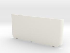 Nintendo New 3DS Bottom Coverplate in White Processed Versatile Plastic