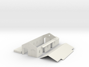 N Scale Axbridge Station Goods Shed 1:148 in White Natural Versatile Plastic
