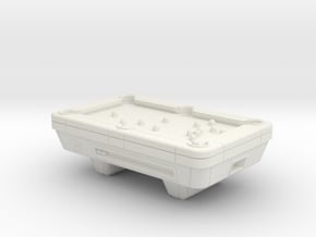 28mm/32mm Pool Table  in White Natural Versatile Plastic