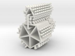 Platonic Solids Kit - part 1 of 2 in White Natural Versatile Plastic