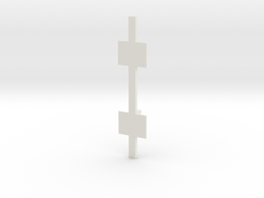 Double Wall V3 in White Natural Versatile Plastic