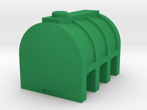 Oil Tank 1:50 scale in Green Processed Versatile Plastic