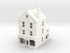 HDH-3 N Scale Honiton High street building 1:148 in White Processed Versatile Plastic