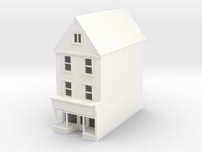 HDH-2 N Scale Honiton High street building 1:148 in White Processed Versatile Plastic