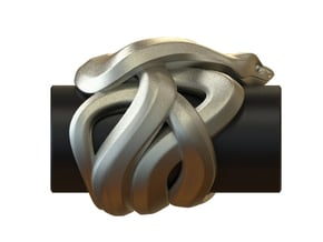 Snake No.1 in White Processed Versatile Plastic