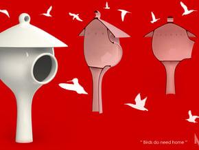 Nido   Birdhouse in White Natural Versatile Plastic