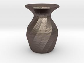1st Sake in Polished Bronzed Silver Steel