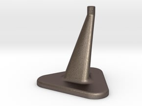 50mm Model Stand / top diameter= 6mm in Polished Bronzed Silver Steel