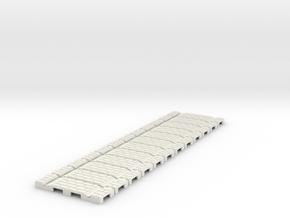 P-32st-flexi-straight-x12-100-1a in White Natural Versatile Plastic