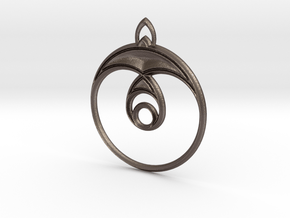 Sparrow Pendant in Polished Bronzed Silver Steel