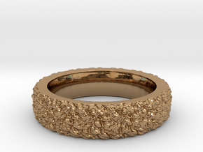 Rugged Beauty Size-8 in Polished Brass