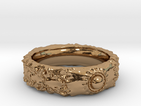 Orb Crater Band - Size: 15 in Polished Brass