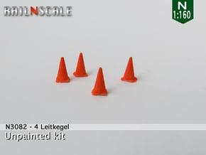 4 Leitkegel (N 1:160) in Smooth Fine Detail Plastic