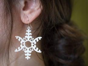 Fluttering Vines Earrings in White Processed Versatile Plastic