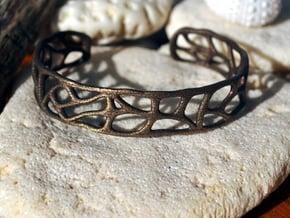 Bracelet abstract version #1 in Polished Bronze Steel