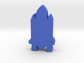 Game Piece, Space Shuttle in Blue Processed Versatile Plastic