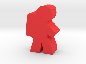 Game Piece, Astronaut, side in Red Processed Versatile Plastic